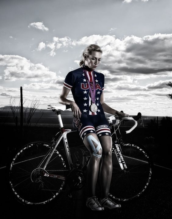 2012 Olympic Silver Medalist and seven time USA Cycling National Champion Dotsie Bausch sports SpiderTech at a photo shoot