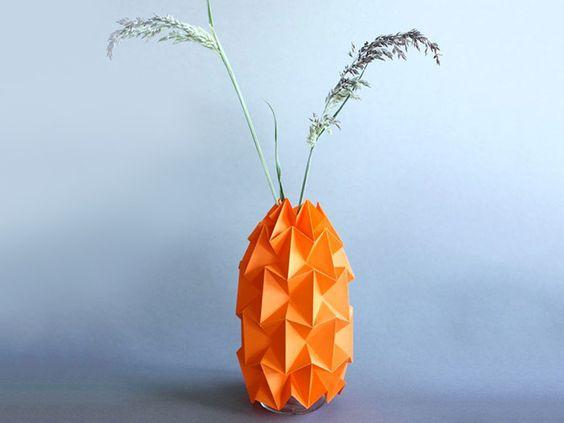 Tutoriel DIY: Fabriquer un cache-pot en origami via DaWanda.com