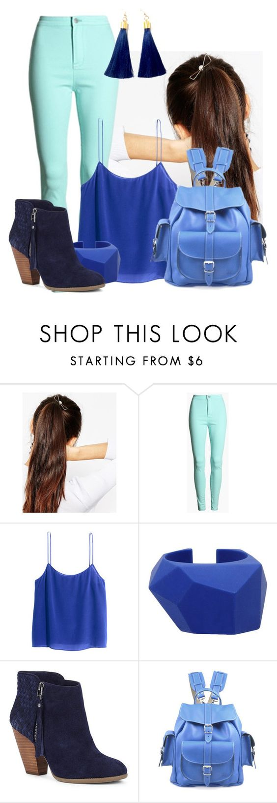 """""""novela"""" by maiiira-nair ❤ liked on Polyvore featuring ASOS, H&M, Marc by Marc Jacobs, Sole Society and Grafea"""