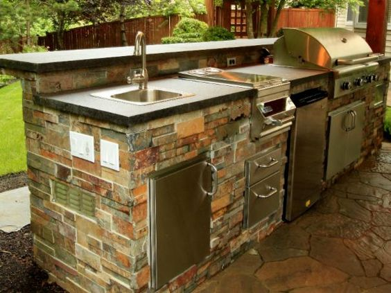 Photo of Tuscan Kitchen project in Newcastle, WA by Alderwood Landscaping