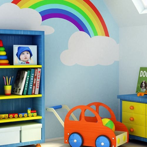Rainbow baby rainbows and rainbow baby nurseries on pinterest for Rainbow kids room