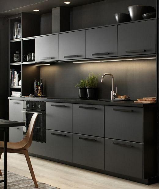 Mala Kuchnia W Bloku Czarny Mat Black Appliances Kitchen Kitchen Design Kitchen Design Decor