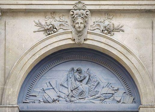 Hôtel de Soubise - Haut du porche d'entrée - Archives nationales (France) —…