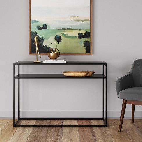 Glasgow Metal Console Table Black Project 62 In 2020 Console