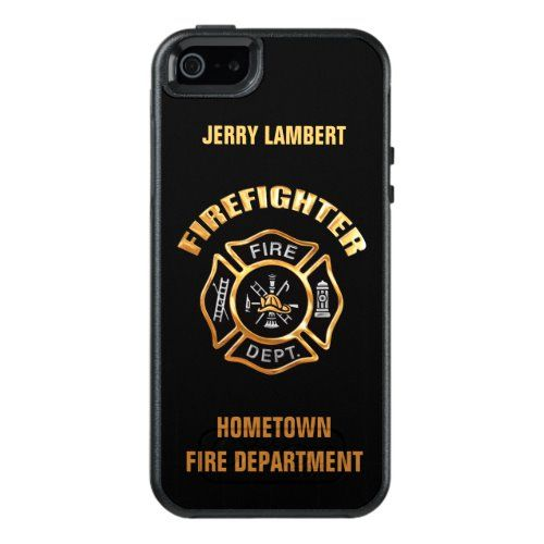 Gold Firefighter Name Template Otterbox Iphone Case Zazzle Com Iphone Cases Otterbox Otterbox Iphone Gold Business Card