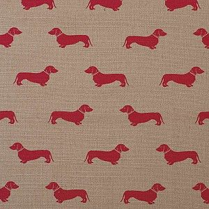 Dog Collection | Dachshund Print - Red - Classic Collection - Fabric - Emily Bond England