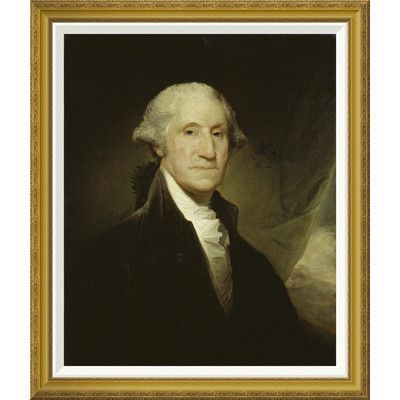 """Global Gallery 'George Washington' by Gilbert Stuart Framed Painting Print Size: 36"""" H x 30.68"""" W x 1.5"""" D"""