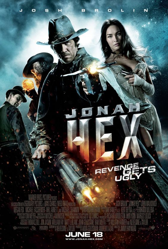 Jonah Hex , starring Josh Brolin, Megan Fox, John Malkovich, Michael Fassbender. The U.S. military makes a scarred bounty hunter with warrants on his own head an offer he cannot refuse: in exchange for his freedom, he must stop a terrorist who is ready to unleash Hell on Earth. #Action #Drama #Fantasy #Thriller #Western