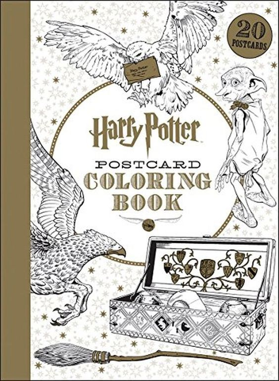 Harry Potter Postcard Coloring Book In Books Children Young Adults