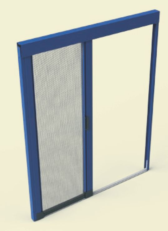 FREE SILENT -zanzariera laterale consigliata per finestre a porta da 1 a più ante ,assenza quasi del tutto ostacolo a pavimento con fermo dell'apertura in tutti i punti.