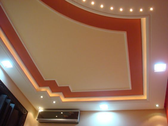 Faux plafond suspendu charmant platre pinterest for Decoration platre salon