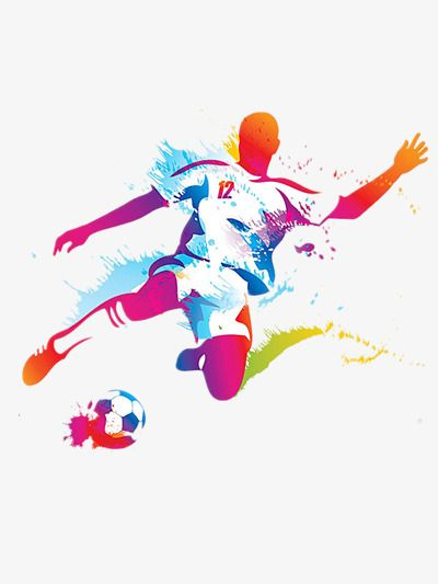 Player Kicking Ball Vector Illustration Ink Ink Jet Jet Png And Vector With Transparent Background For Free Download Soccer Players Soccer Sports Art