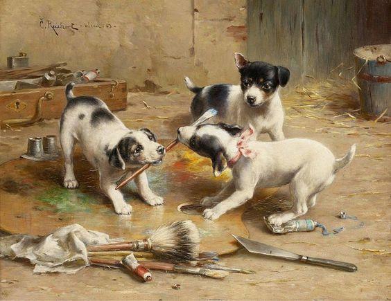 Carl Reichert (1836-1918) Der malerstreit: