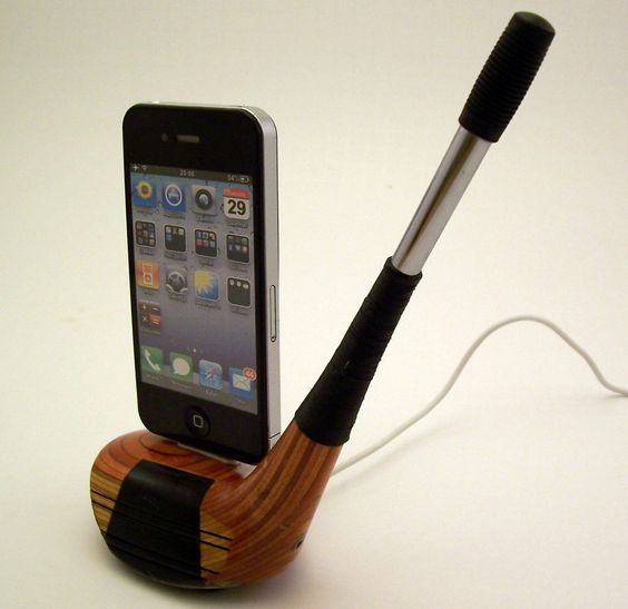 Vintage Wooden Golf Club iPhone Dock