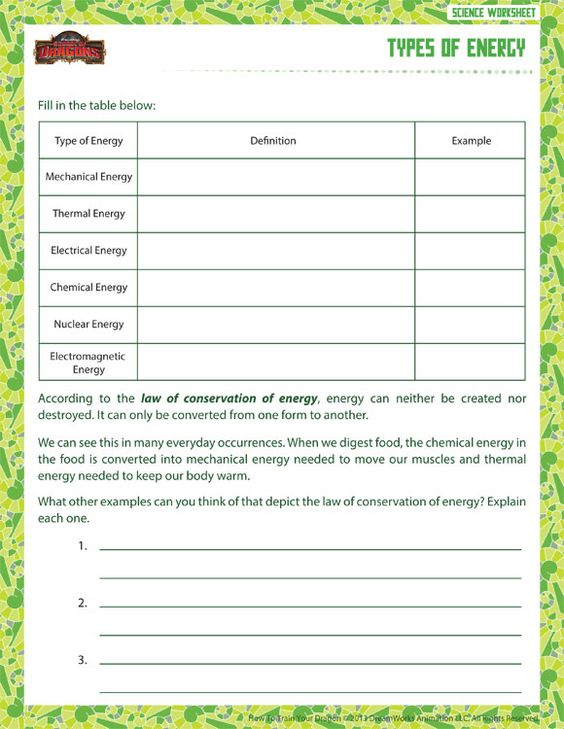 Worksheets Sixth Grade Science Worksheets pinterest the worlds catalog of ideas types energy view printable sixth grade science worksheet school dragons