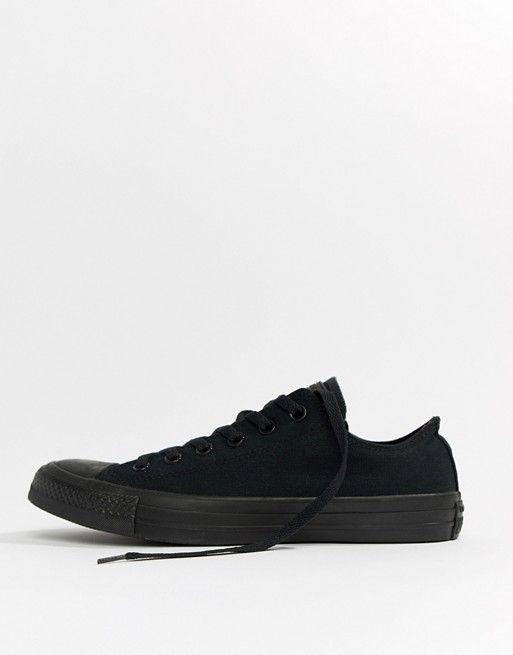 Converse All Star Ox Plimsolls In Black M5039c Asos Sepatu In