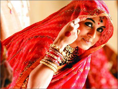 Rani Mukherjee in a traditional bridal saree