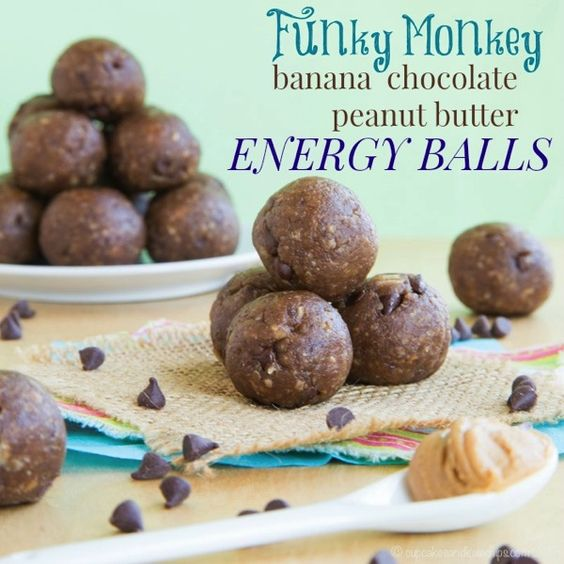 Funky Monkey Banana Chocolate Peanut Butter Energy Balls - your ...