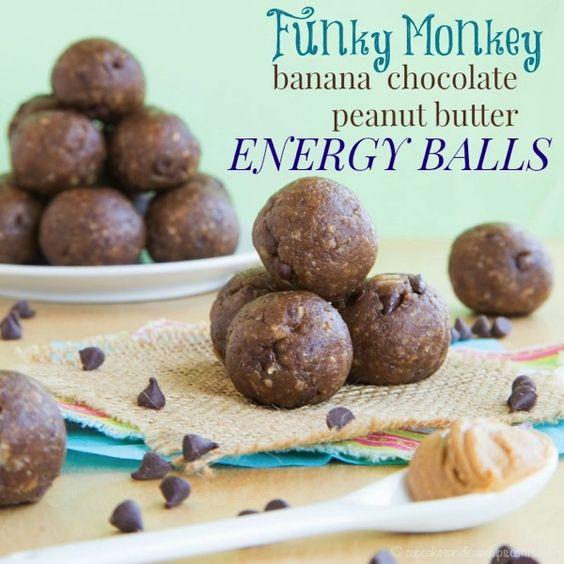 Funky Monkey Banana Chocolate Peanut Butter Energy Balls - your ...