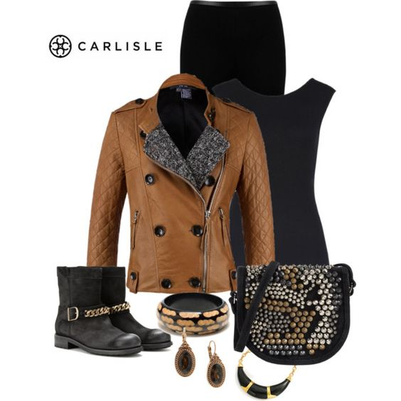 Biker boots, Boots and Polyvore on Pinterest