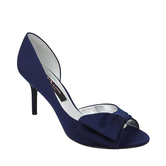 Nina Freja | New Navy Luster Satin Bridal Party, Holiday Shoes, Sweet Styles, Shop Spring, New Styles, Nina Womens, Shoes, Pumps, Fashion | Nina Shoes