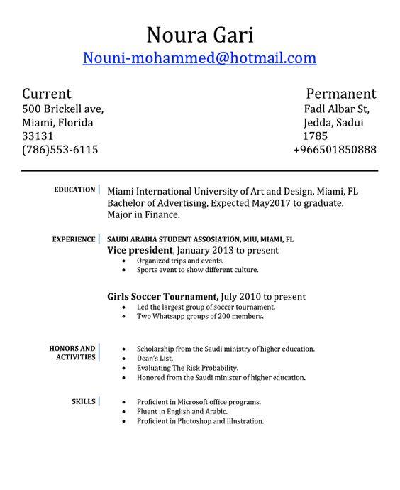 Vice President Resume Examples Noura Gari Nouni-mohammed@hotmail - vice president resume