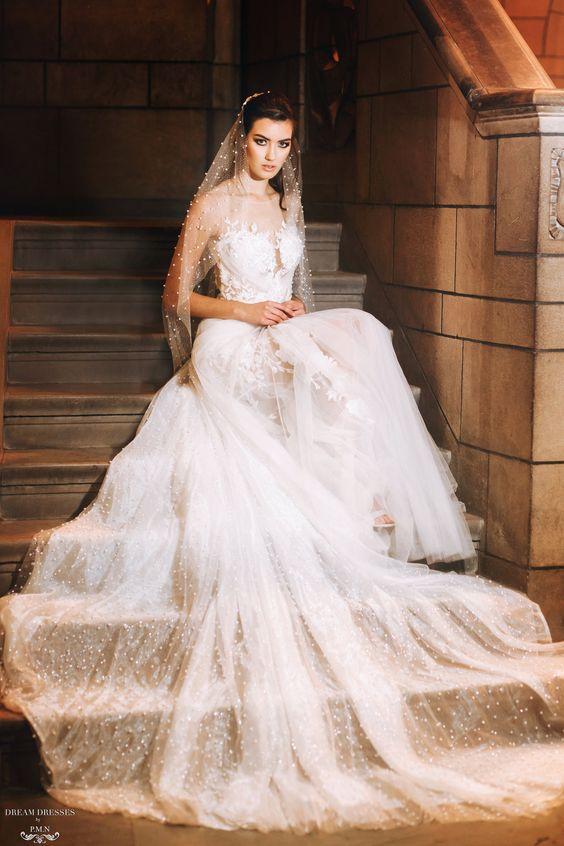 Glitter & Pearls Detachable Bridal Skirt