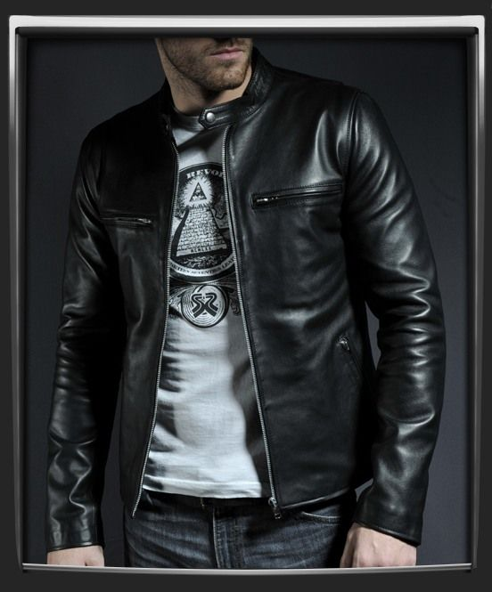 A timeless classic leather jacket, influenced by retro '60s style ...