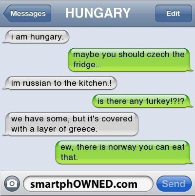 Country humor.  No, no not hillbilly country, the countries of the world.