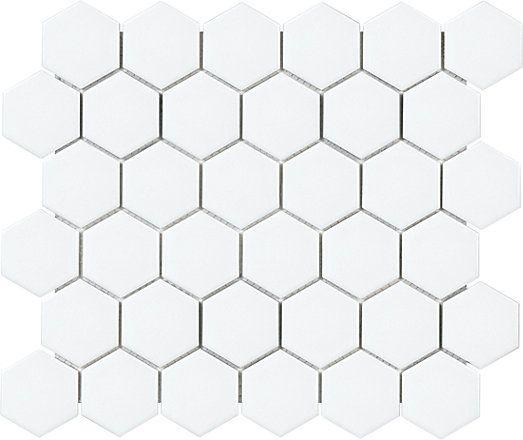 enigma 2 inch metro white matte hexagon