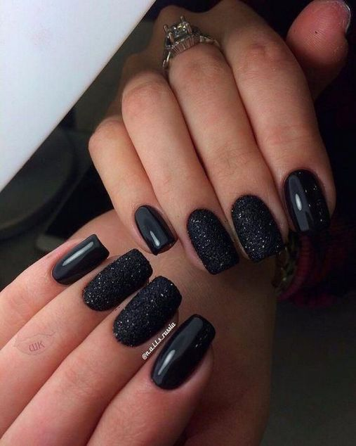 Top Choices Of Black Acrylic Nails Coffin Glitter Restbytes Com Black Nails With Glitter Black Nail Designs Homecoming Nails