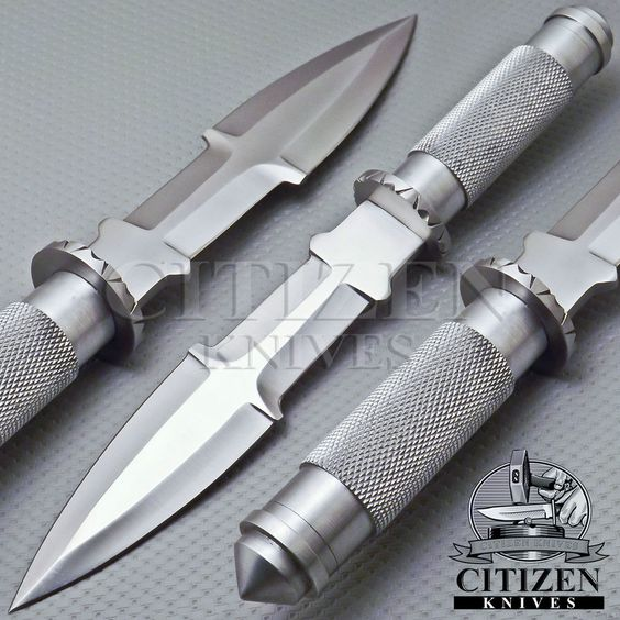 RARE BEAUTIFUL CUSTOM HAND MADE D2 STEEL HUNTING DAGGER KNIFE HANDLE KNURLED. #CITIZENKNIVES