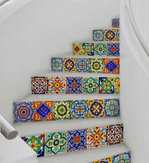 Escalones de mosaico