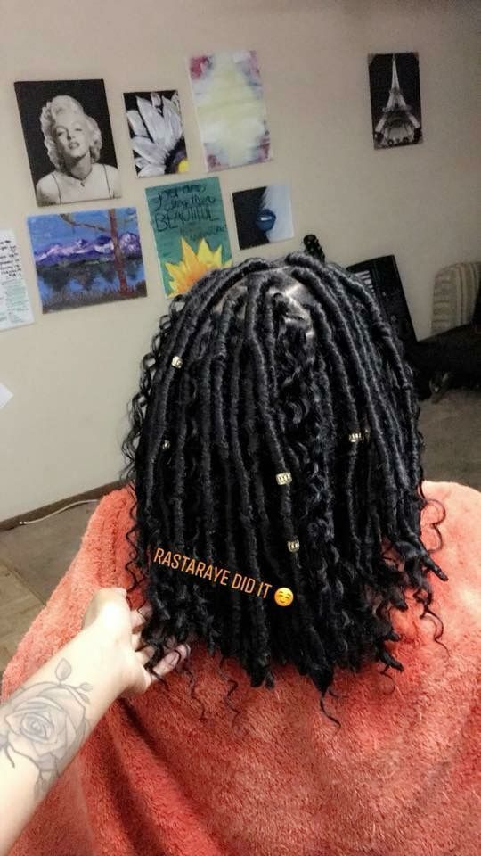Short Faux Locs Marley Hair Faux Locs Hairstyles Hair Styles Marley Hair