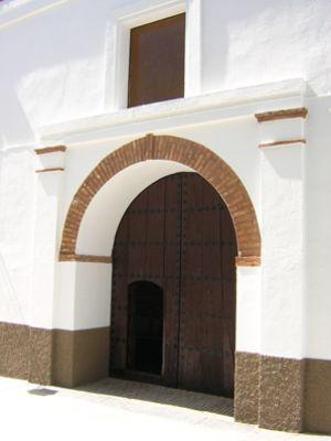 Puerta de la iglesia de Yegen