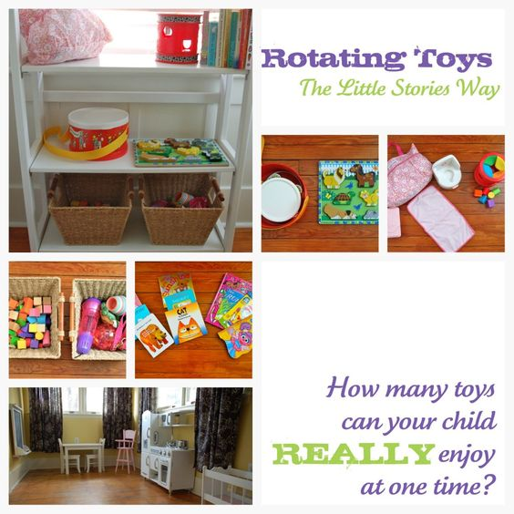 great suggestions on rotating toys: Decluttering Toys, Pretending Toys, Rotate Toys, Rotating Toys, Thinking Toys, Rotating Kids, Toys Suggestions, Kids Toys