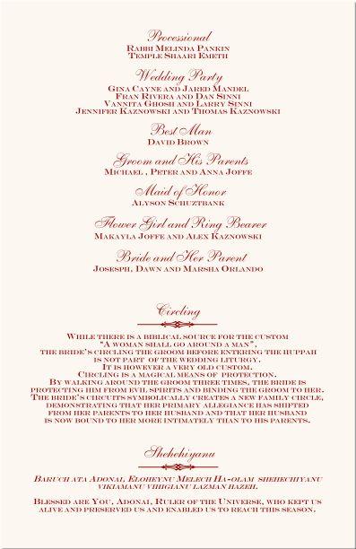 free printable wedding programs templates | Ceremony & | printable ...