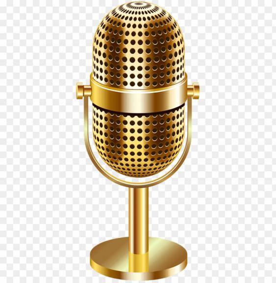 Download Vintage Microphone Gold Transparent Png Images Background Png Free Png Images Vintage Microphone Transparent Vintage