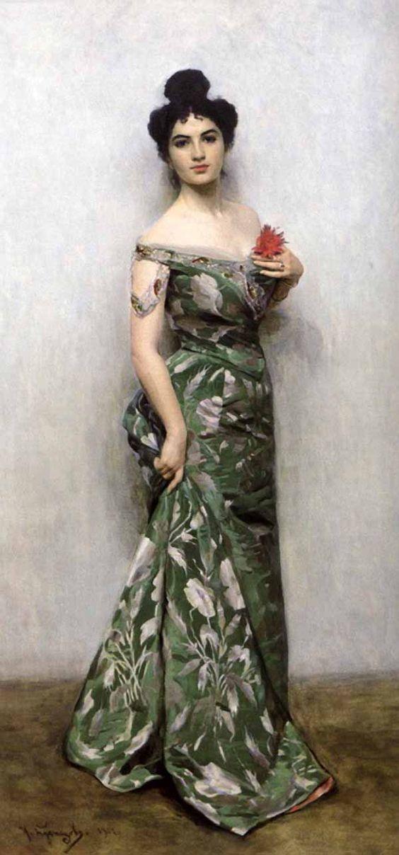 Portrait of M.N. Kuznetsova, the artist's daughter, 1901, Nikolai Kuznetsova.
