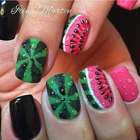 Watermelon Fabulous Summer Nails!