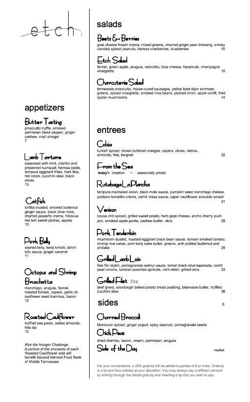 Pinewood Social Dinner Menu Nashville Restaurant Nashville - dinner menu