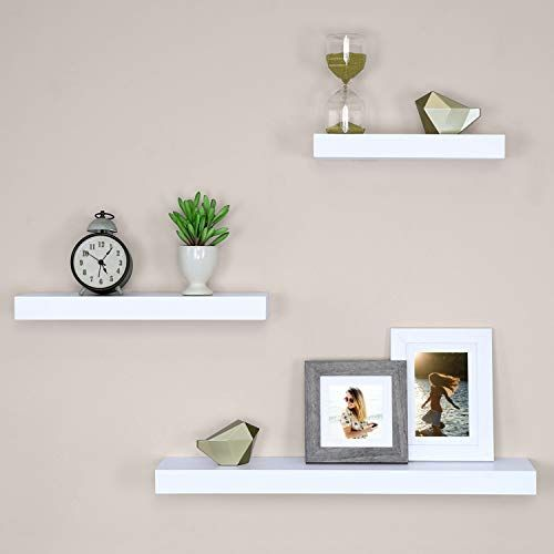 New Ballucci Block Floating Wall Ledge 12 16 24 Set 3 White Online Shopping Top10popstore In 2020 Floating Shelves Wall Shelf Decor White Floating Shelves