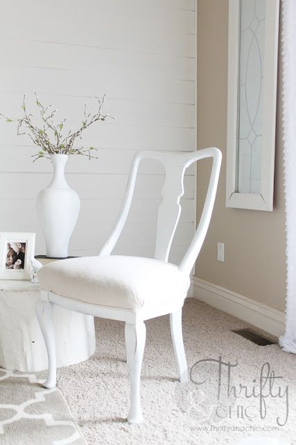 How to reupholster a chair seat when it won't come off!