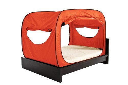 privacy pop bed tent (full) - orangeprivacy pop, http://www