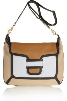 Pierre Hardy Color-block leather shoulder bag | NET-A-PORTER