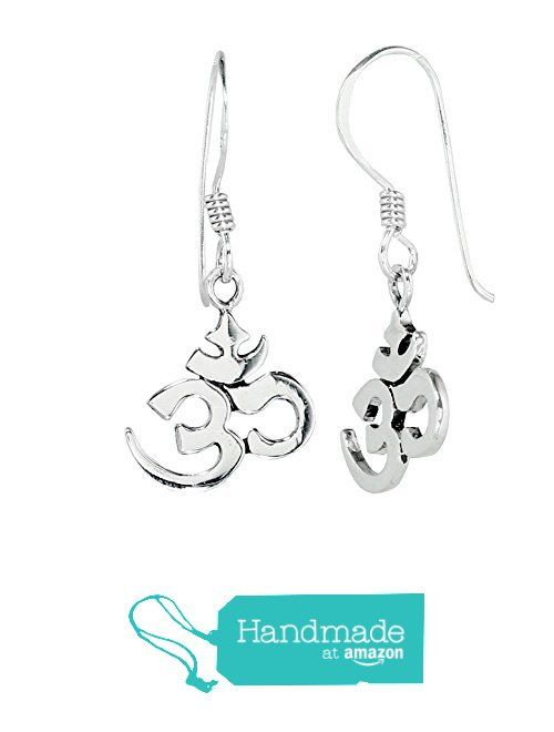 The Om or Ohm Symbol 925 Sterling Silver Drop Earrings for Women from Rita &…