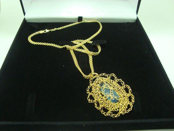 Lindo colar de Ágata maravilhoso presente para o dia das mães.