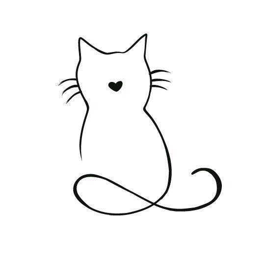 Best 12 Cat Stylized Drawing Tattoo Cat Stylized Tattoo Hinweis Katzen Silhouette Katzen Tattoo Silhouette Tattoos Katze