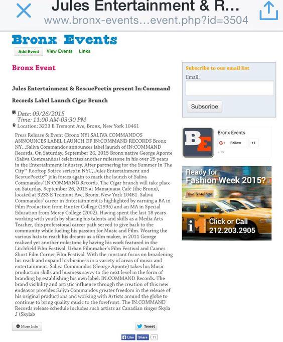 @mamajuanabronx #BronxEvents @salivacommandos @farib1127   http://www.bronx-events.com/bronx-event.php?id=3504