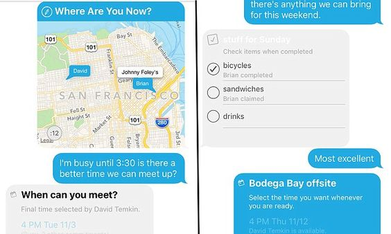 Cola app lets you getting directions to checking your friends' diaries | Daily Mail Online